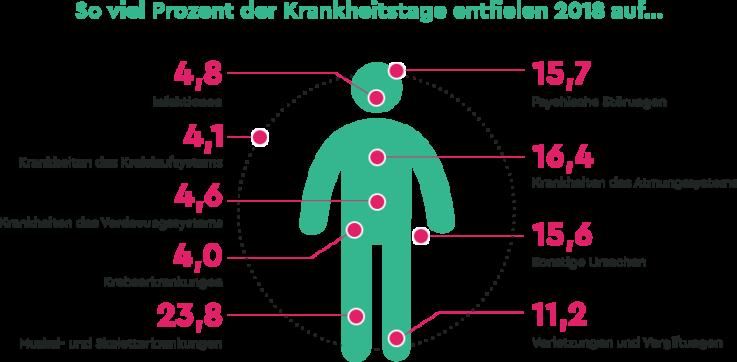 Krankenstand: Infografik