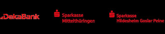 Zu unseren Kunden gehören u. a. die DekaBank, die Sparkasse Mittelthüringen und die Sparkasse Hildesheim Goslar Peine.